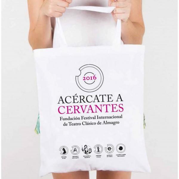 """BOLSA CON ASAS """"ACERCATE A CERVANTES"""""""