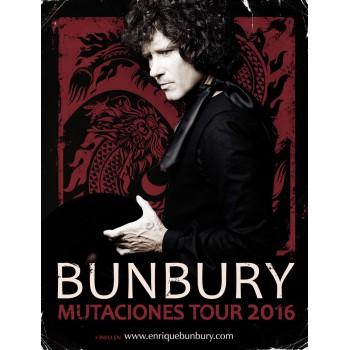 POSTER BUNBURY MUTACIONES TOUR