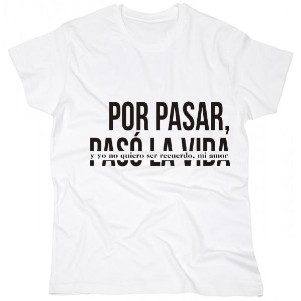 """CAMISETA DESORDENADOS """"POR PASAR"""" BLANCA"""